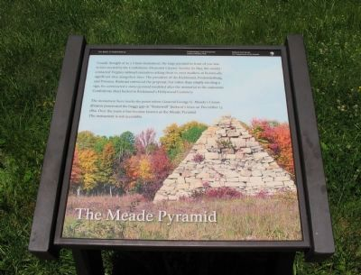 The Meade Pyramid Marker Photo, Click for full size