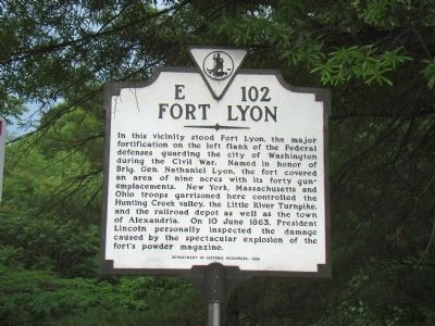 Fort Lyon Marker Photo, Click for full size