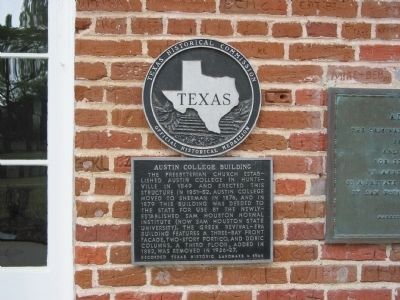 Austin College Building Marker image. Click for full size.