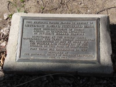 Lieutenant Edward Fitzgerald Beale Marker Photo, Click for full size