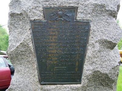 This Stone Marks the Site of the Fort at McDowell's Mill Marker image. Click for full size.