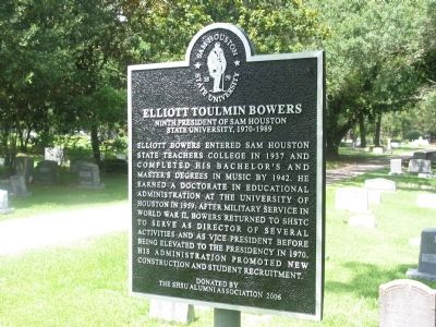 Elliott Toulmin Bowers Marker Photo, Click for full size