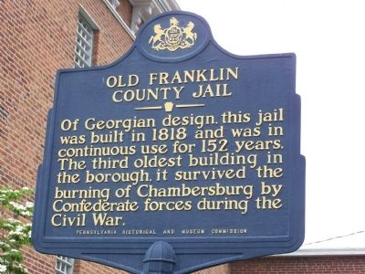 Old Franklin County Jail Marker image. Click for full size.