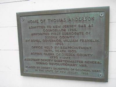 Home of Thomas Anderson Marker image. Click for full size.