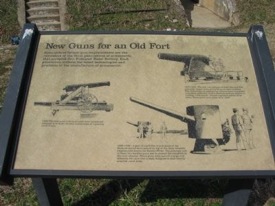 New Guns for an Old Fort Marker image. Click for full size.