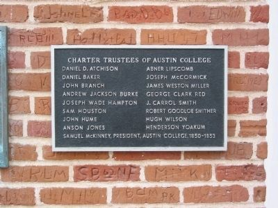 Austin College Building - Trustees Marker image. Click for full size.