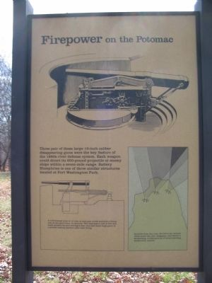 Firepower on the Potomac Marker, Left Side Panel image. Click for full size.
