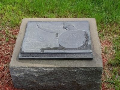 U.S.S. Maine Plaque at Memorial Fountain image. Click for full size.