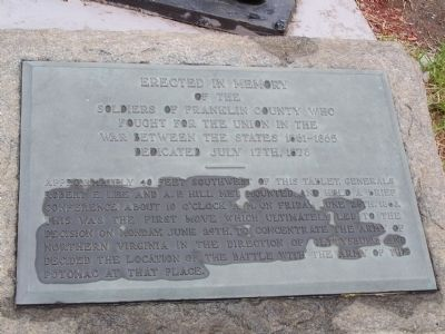 Civil War Plaque at Memorial Fountain image. Click for full size.