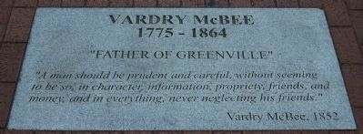 Vardry McBee (1775-1864) Marker Photo, Click for full size