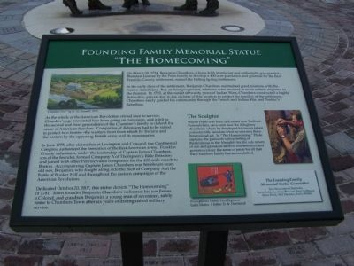 Founding Famiily Memorial Statue Marker image. Click for full size.