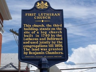 First Lutheran Church Marker Photo, Click for full size