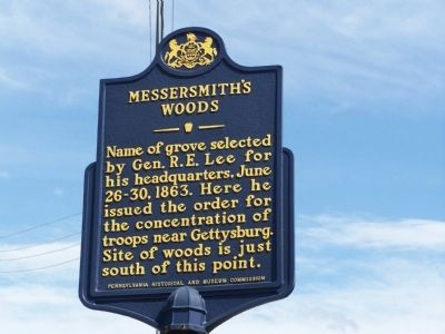 Messersmith's Woods Marker image. Click for full size.