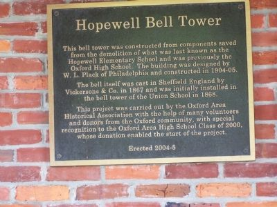 Hopewell Bell Tower Marker image. Click for full size.