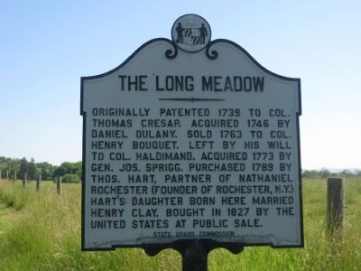 The Long Meadow Marker image. Click for full size.