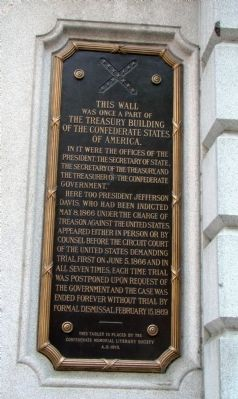 The Treasury Building of the Confederate States of America Marker image. Click for full size.
