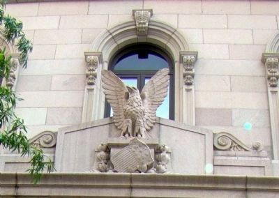 Detail of Eagle and Shield Over the Lintel image. Click for full size.