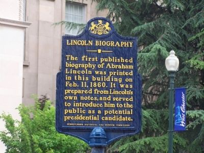 Lincoln Biography Marker image. Click for full size.