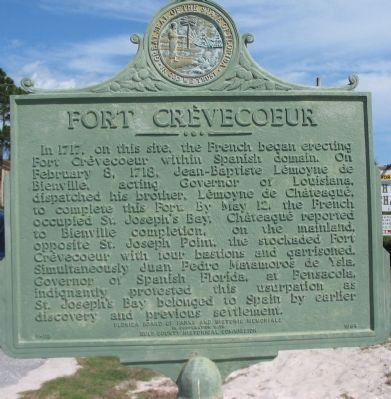 Fort Cr�vecoeur Marker, Front Photo, Click for full size