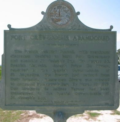 Fort Cr�vecoeur Marker, Reverse Photo, Click for full size