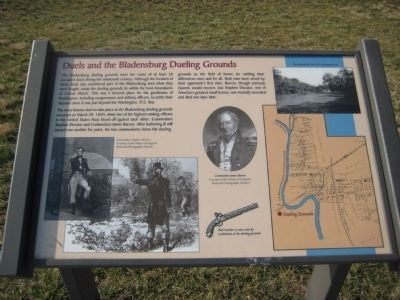 Duels and the Bladensburg Dueling Grounds Marker Photo, Click for full size