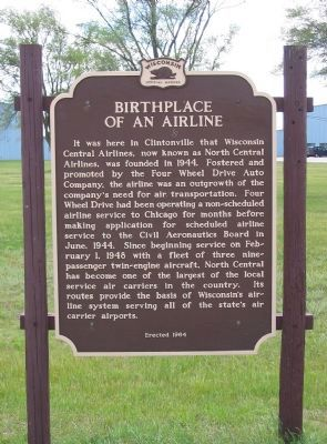 Birthplace of an Airline Marker image. Click for full size.