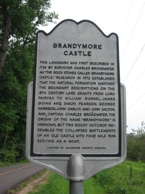Brandymore Castle Marker Photo, Click for full size