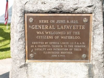 General Lafayette Marker Photo, Click for full size