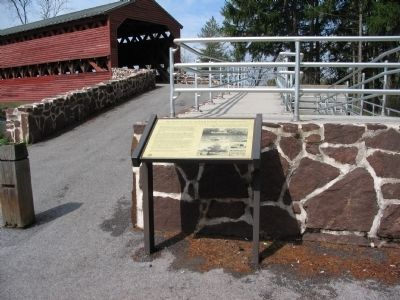 Marker at the East Approach to the Bridge image. Click for full size.