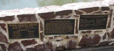 Sach's Covered Bridge Plaques Photo, Click for full size
