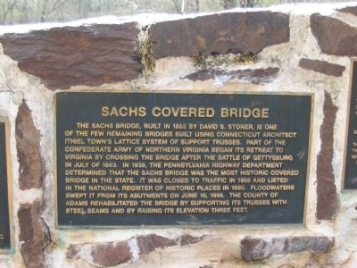 Sach's Covered Bridge Marker Photo, Click for full size