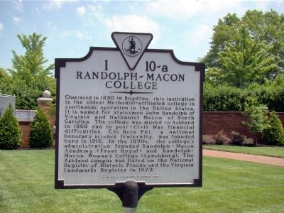 Randolph-Macon College Marker image. Click for full size.