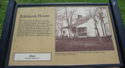 Robinson House Marker Photo, Click for full size