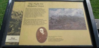 The Fight for Rickett�s Guns Marker image. Click for full size.