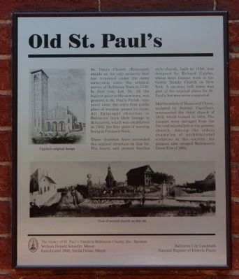 Old St. Paul's Marker Photo, Click for full size