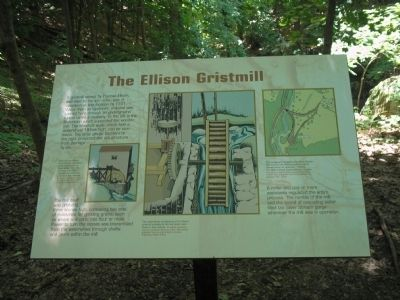 The Ellison Gristmill Marker image. Click for full size.