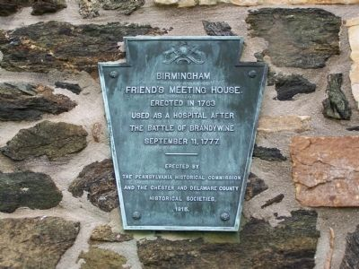Birmingham Friends Meeting House Marker image. Click for full size.