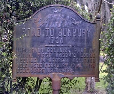 Road to Sunbury Marker image. Click for full size.