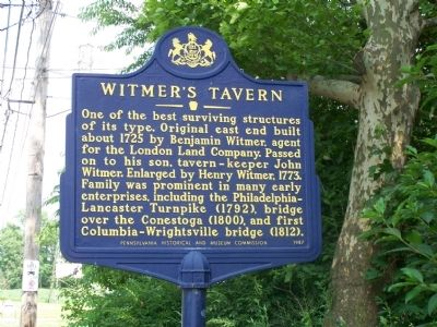 Witmer's Tavern Marker image. Click for full size.