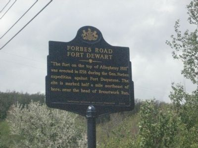 Forbes Road Marker image. Click for full size.