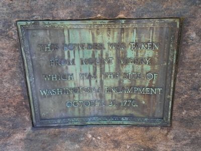 Marker on side of monument image. Click for full size.