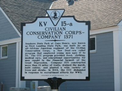 Civilian Conservation Corps Company 1371 Marker image. Click for full size.