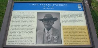 Corp. Isaiah Fassett Marker image. Click for full size.