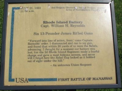 Rhode Island Battery Marker Photo, Click for full size