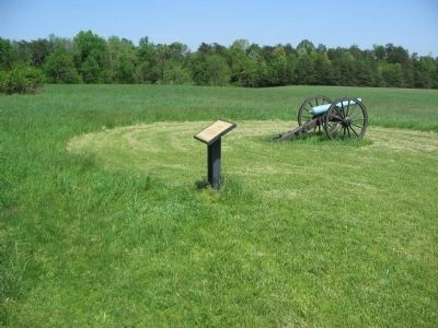 Rhode Island Battery Marker and James Rifled Cannon Photo, Click for full size