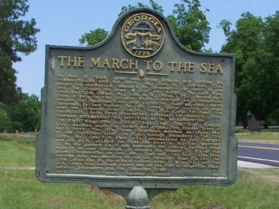 The March to the Sea Marker image. Click for full size.