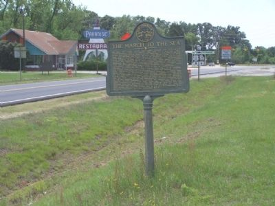 The March to the Sea Marker looking South on US 301 image. Click for full size.