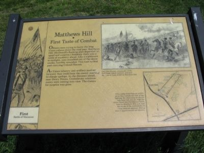 Matthews Hill Marker image. Click for full size.
