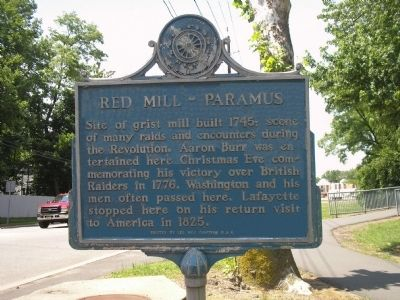 Red Mill – Paramus Marker image. Click for full size.
