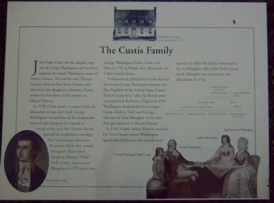 The Custis Family Marker image. Click for full size.